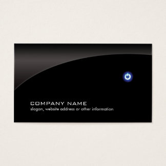 PC Computer Repair Technician Simple Black Business Card