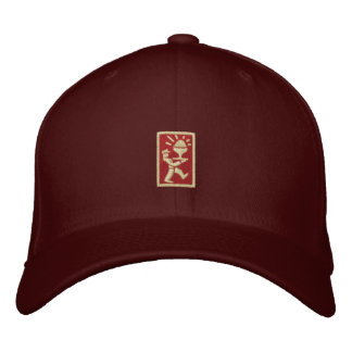PC Ice Cream Man Logo (drk red/crm) Embroidered Cap