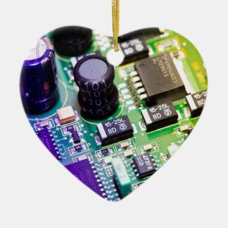 PCB - Printed Circuit Board Ceramic Heart Decoration