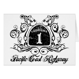 PCH Highway Sign -Grunge Greeting Card