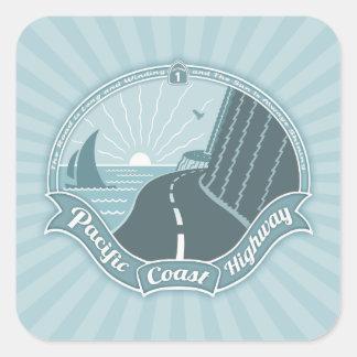 PCH Winding Shining Square Sticker