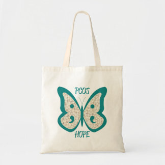 PCOS Awareness Butterfly Tote Bag