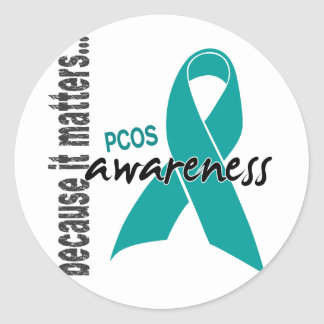 PCOS Awareness Classic Round Sticker