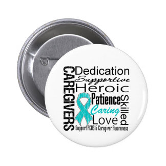 PCOS Caregivers Collage Pin