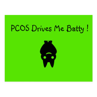 PCOS Drives Me Batty Halloween Postcard