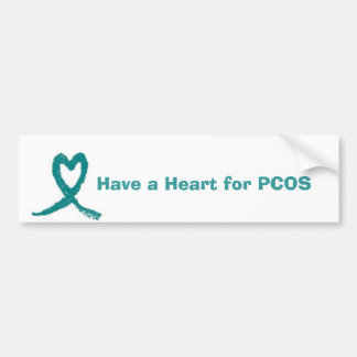 pcos heart ribbon, Have a Heart for PCOS Bumper Sticker