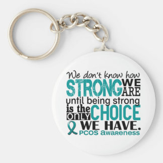 PCOS How Strong We Are Keychains