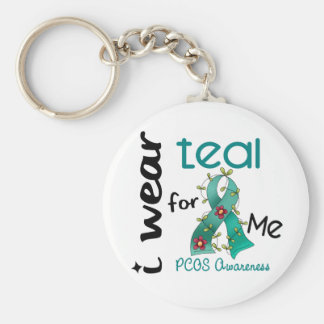 PCOS I Wear Teal For ME 43 Key Ring