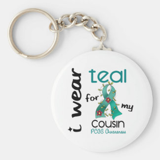PCOS I Wear Teal For My Cousin 43 Key Ring