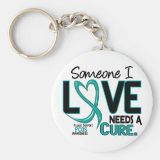 PCOS Needs A Cure 2 Basic Round Button Key Ring