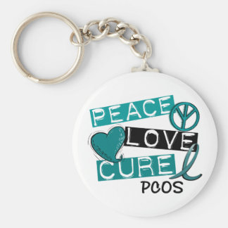 PCOS Peace Love Cure 1 Key Ring