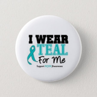 PCOS Support Button! 6 Cm Round Badge