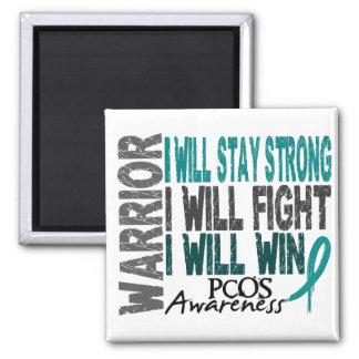 PCOS Warrior Square Magnet