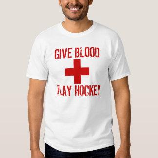 pcuk Give Blood Play Hockey Shirt