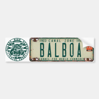 PCZ License Plate & BHS: Balboa Bumper Sticker