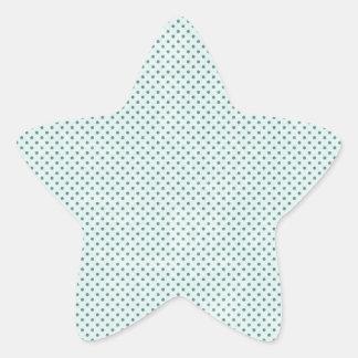 pd19  BABY BLUE COUNTRY LIGHT GRUNGE POLKADOT POLK Star Sticker