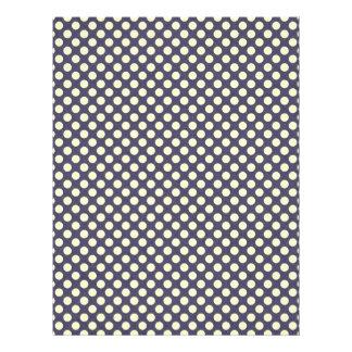 pd23-purplewhite PURPLE WHITE POLKADOTS POLKA DOTS Full Color Flyer