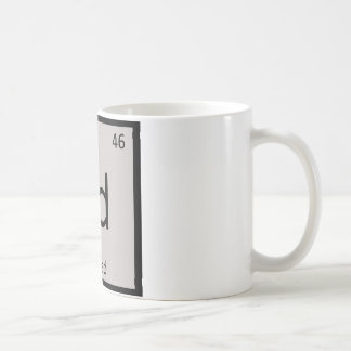 Pd - Pwned Gaming Chemistry Periodic Table Symbol Basic White Mug