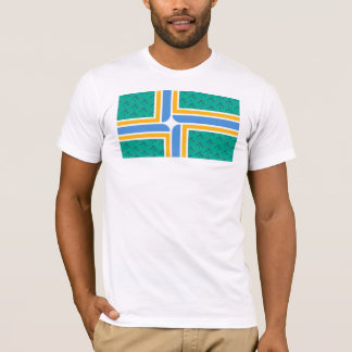 PDX Airport Carpet- Portland Flag T-Shirt