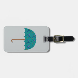 PDX Airport Carpet Umbrella Luggage Tag