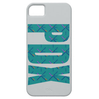 PDX Portland Airport Carpet Text Barely There iPhone 5 Case