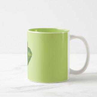 Pea Green Bok Choy Mugs