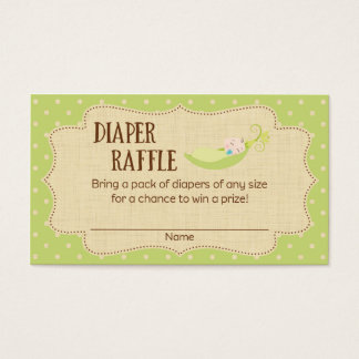 Pea In A Pod Baby Shower Diaper Raffle Tickets