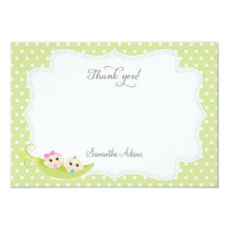 Pea In A Pod Thank You Card 9 Cm X 13 Cm Invitation Card