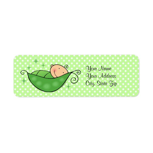 Pea In My Pod Custom Label Return Address Label