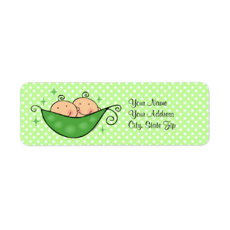 Pea In My Pod Twins Custom Return Address Label