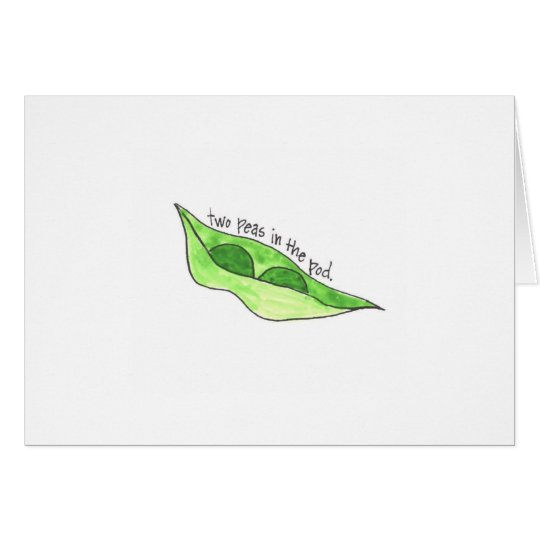 Pea Pod Twin Greeting Card