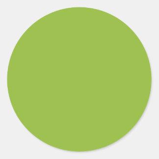Pea Soup Green Round Sticker