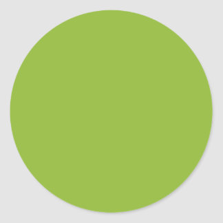 Pea Soup Green Round Stickers