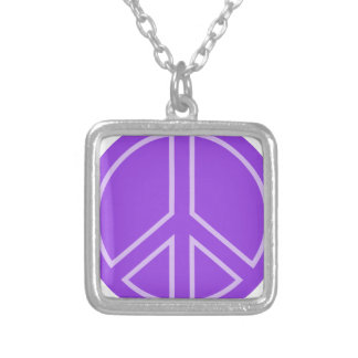 peace14 silver plated necklace
