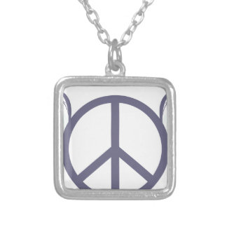 peace4 silver plated necklace