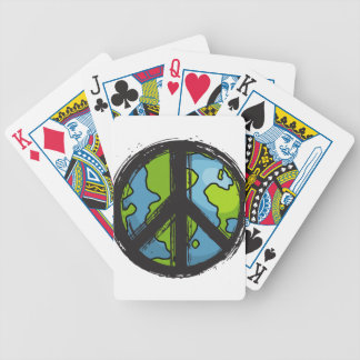 peace5 bicycle playing cards