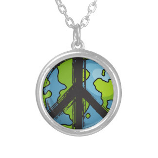 peace5 silver plated necklace