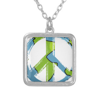 peace6 silver plated necklace