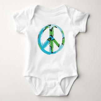 peace8 baby bodysuit
