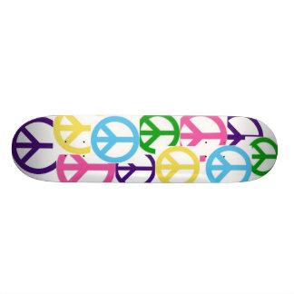 peace! 21.6 cm old school skateboard deck