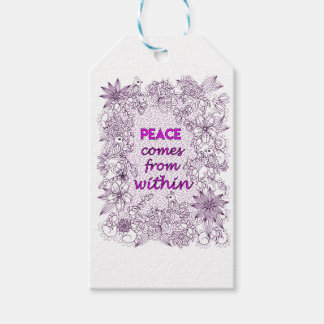 Peace 2 gift tags