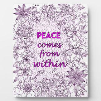 Peace 2 plaque