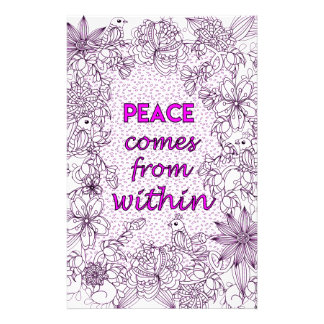 Peace 2 stationery