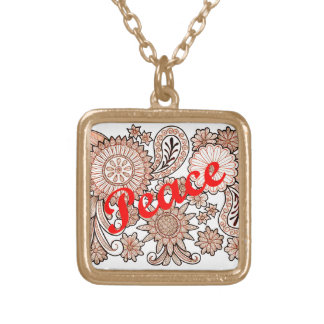 Peace 3 gold plated necklace