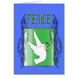 Peace 3 greeting card