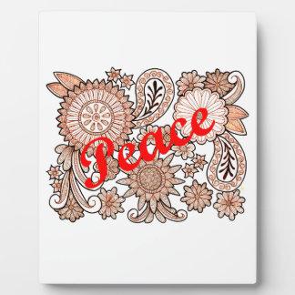 Peace 3 plaque