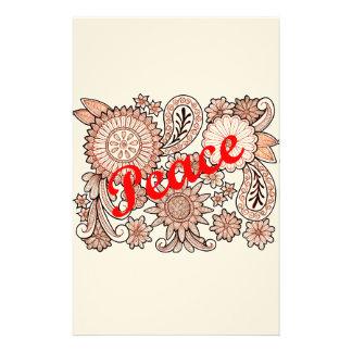Peace 3 stationery