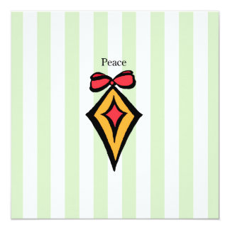 "Peace 5.25""x5.25"" Greeting Card Diamond Ornament"