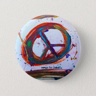 peace 6 cm round badge