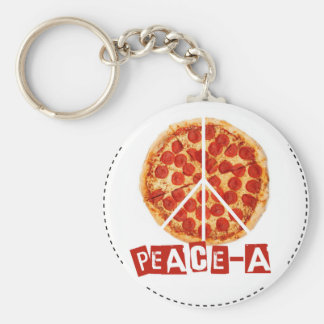 Peace-a for the pizza and peace  lover key ring
